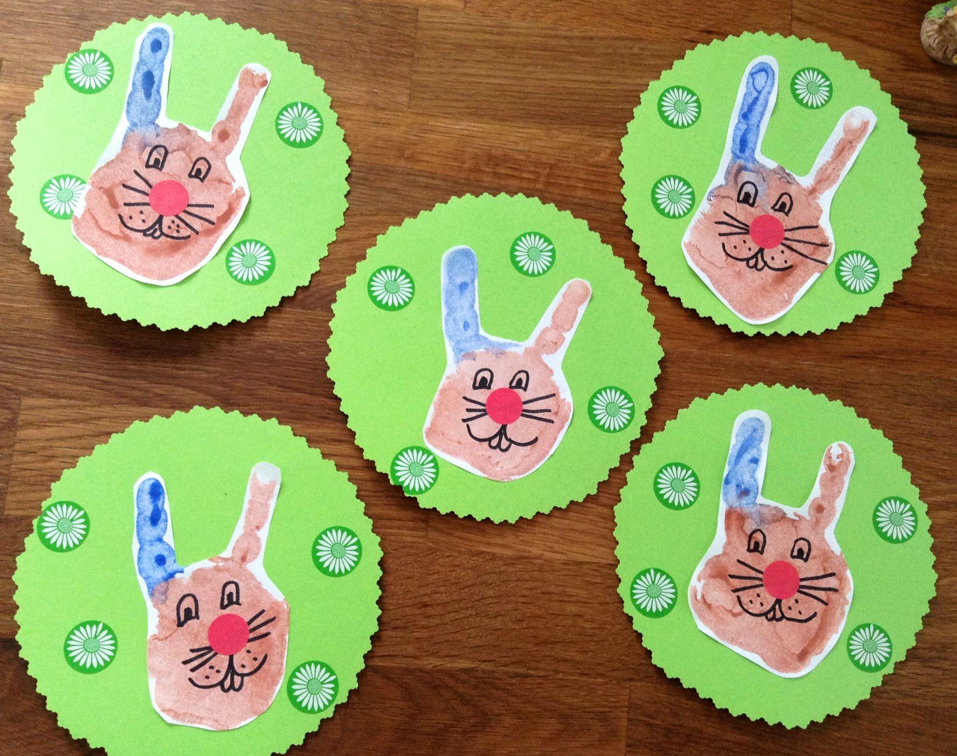 Der Hase Mit Der Roten Nase Und Dem Blauen Ohr Basteln Fruhling Basteln Mit Kindern Kreativ