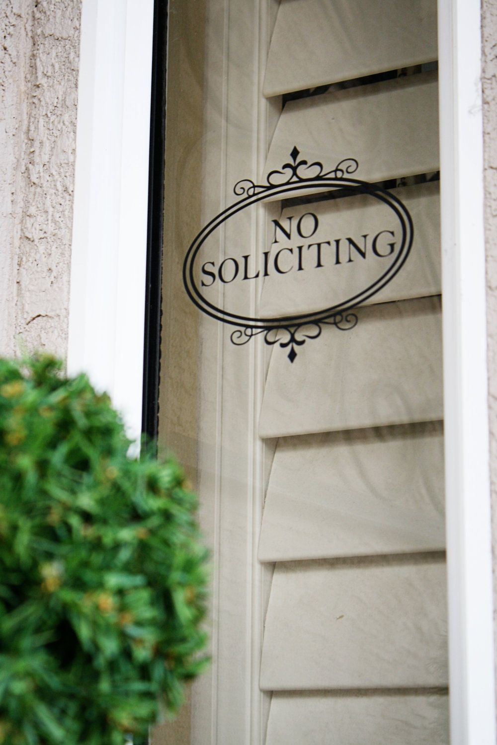 No Soliciting Vinyl Decal Window Cling
