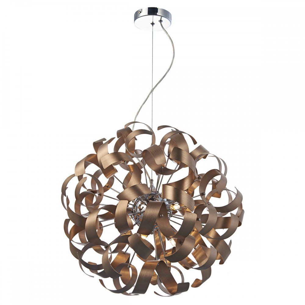 Dar lighting rawley 9 light ribbon pendant ceiling light in brushed dar lighting rawley 9 light ribbon pendant ceiling light in brushed copper raw1364 30150 affordable aloadofball Gallery