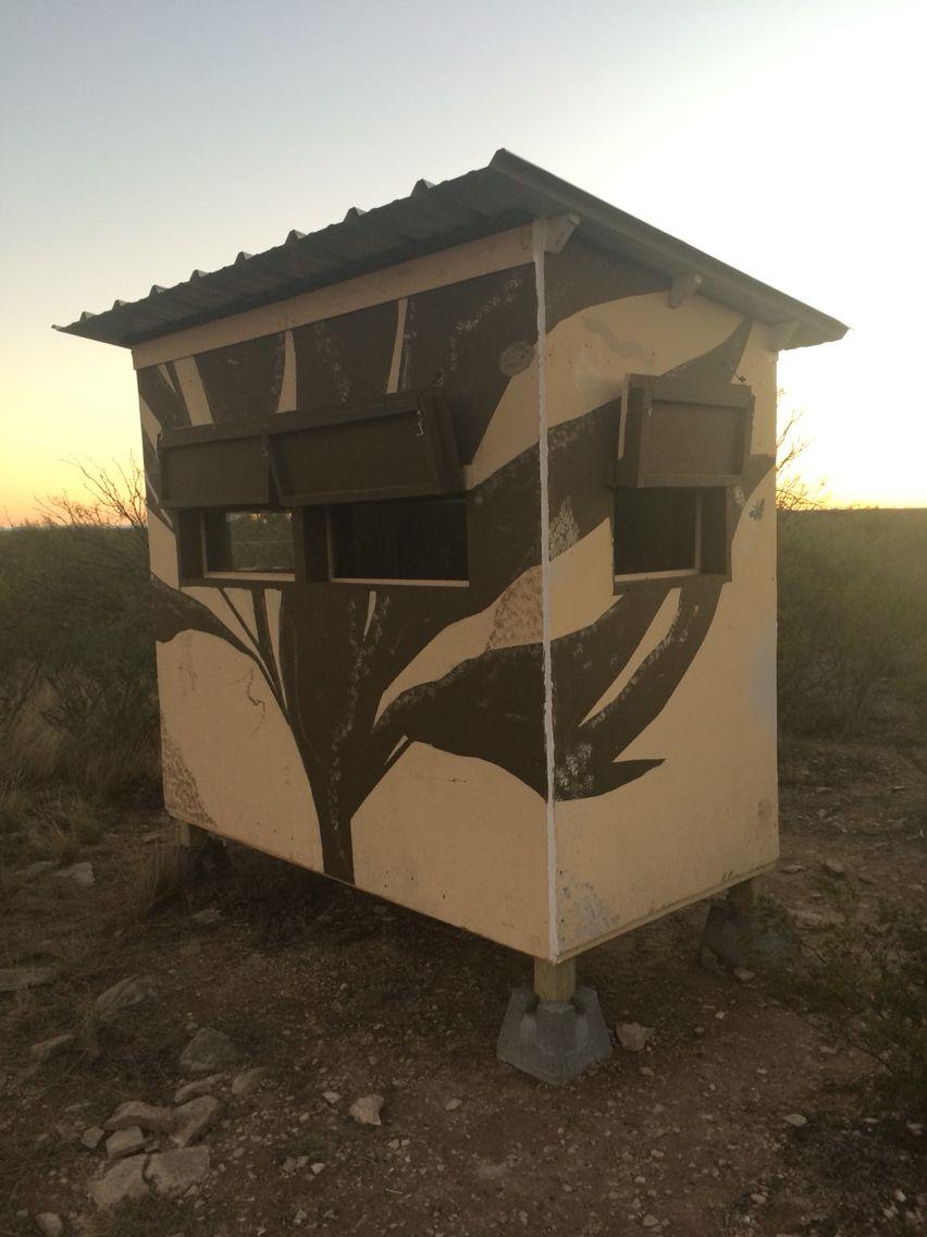 Finished Blind Set Up In Southwest Texas Deer Blind