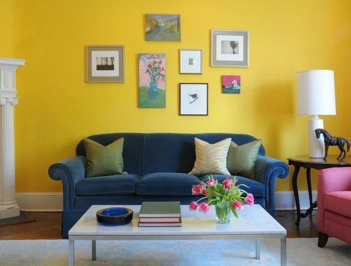Couleur peinture salon - conseils et 90 photos pour vous inspirer - preparer un mur pour peindre