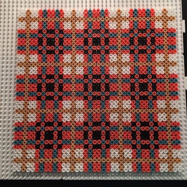 Plaid design hama perler beads  by aslaugsvava
