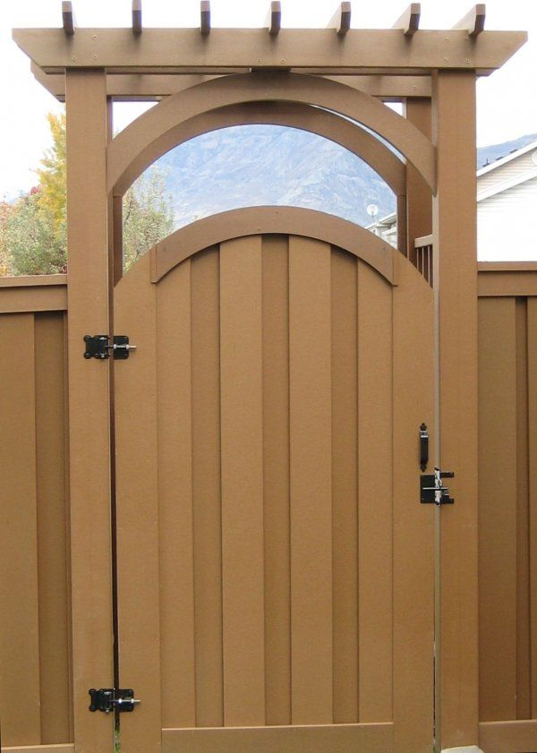 Image result for trex fence gate idea | fence | Pinterest | Gate ...