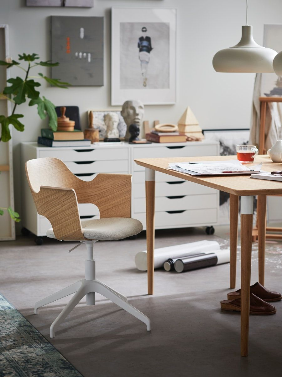 Fjallberget Conference Chair White Stained Oak Veneer Gunnared Beige Ikea Switzerland Conference Chairs Ikea Home [ 1200 x 900 Pixel ]