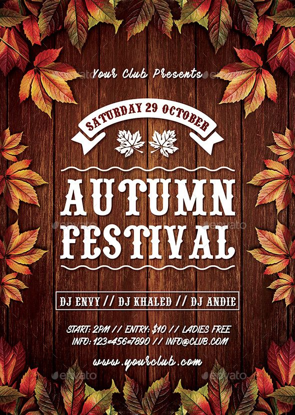 Autumn Fall Festival Flyer Fully editable flyer template #flyer