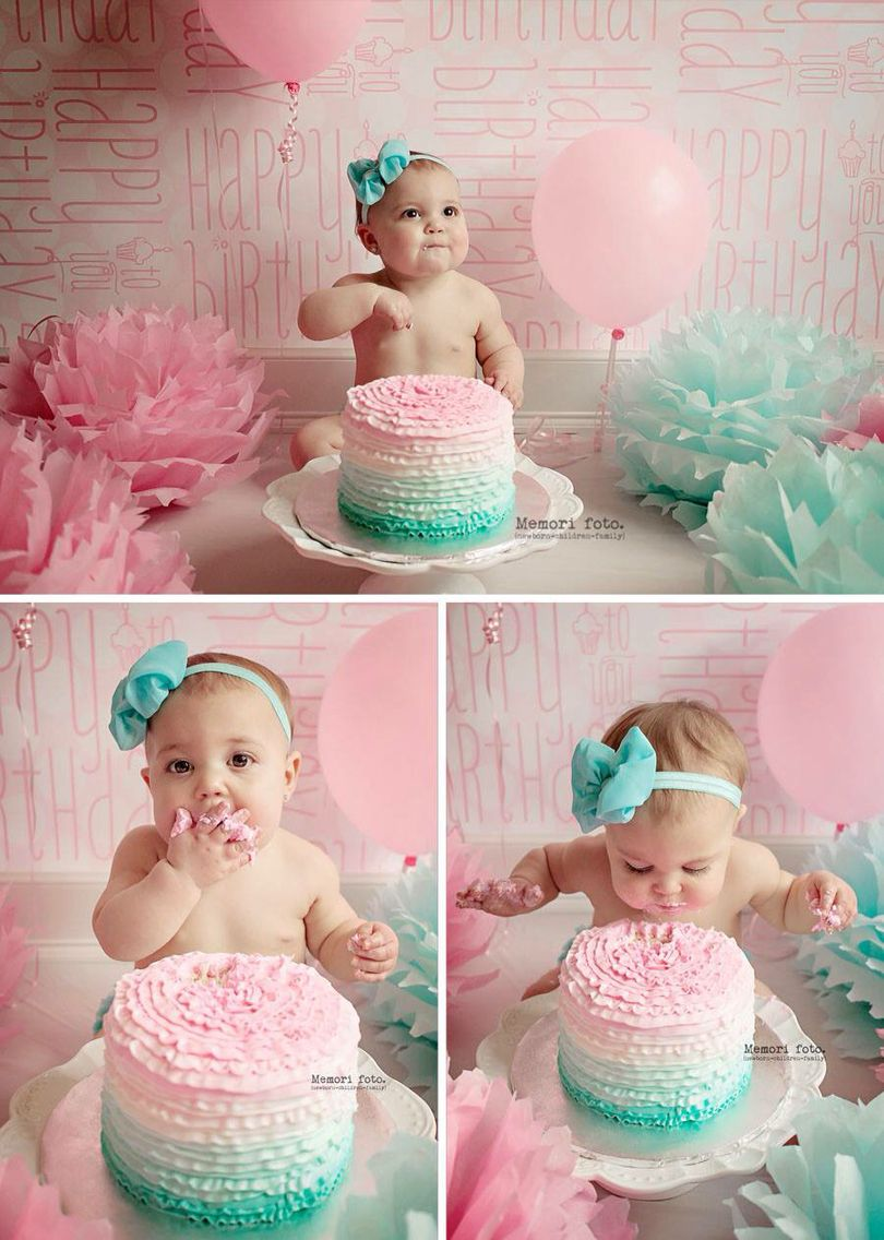 1 Year Old Cake Smash Session Memori Foto 1 Year Old Cake 1st