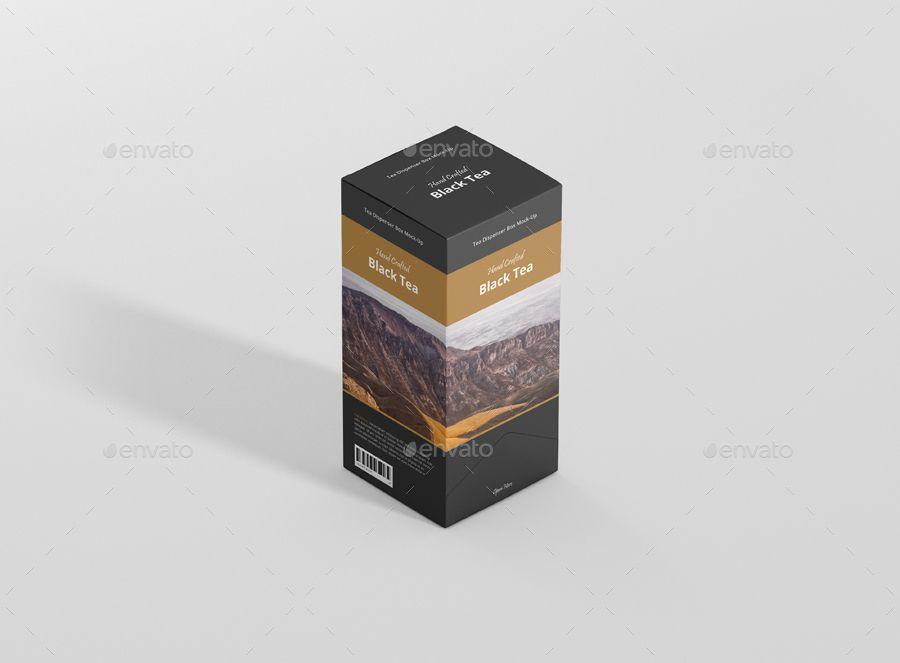 Download Tea Dispenser Box Mockup Ad Box Spon Mockup Full Tea Dispenser Tea Packaging Design Box Mockup Tea Packaging