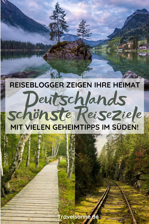 Du planst deinen Urlaub 2020 in Deutschland? Reiseblogger aus Deutschlands Süden zeigen die schönsten Orte in ihrer Heimat für einen Urlaub zu Hause. Entdecke spannende Urlaubsziele in Bayern, Baden-Württemberg, Thüringen, Hessen, Rheinland-Pfalz. #DeutschlandReisen #DeutschlandUrlaub #UrlaubinDeutschland #Urlaub2020 #Natur #WandernDeutschland #Sommerurlaub #DeutschlandschönsteOrte #DeutschlandSehenswürdigkeiten