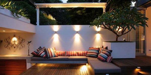 Apliques de iluminaci n ba o de pared efecto prefecto - Iluminacion terrazas exteriores ...