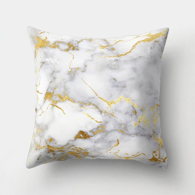 marble design geometric sofa cushion