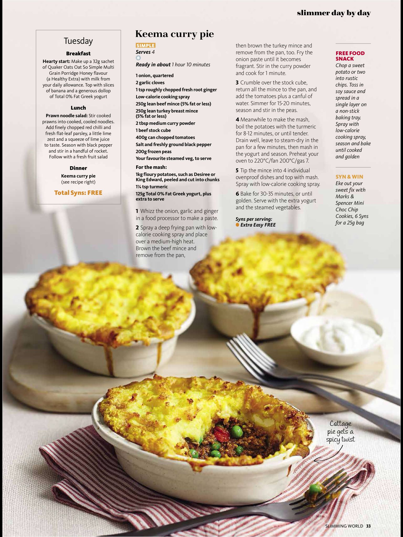 Keema Curry Pie Food Slimming World Recipes Food Recipes