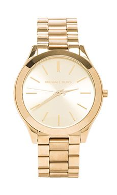 2730db3aa0f96 Michael Kors Slim Classic Watch en Dorado