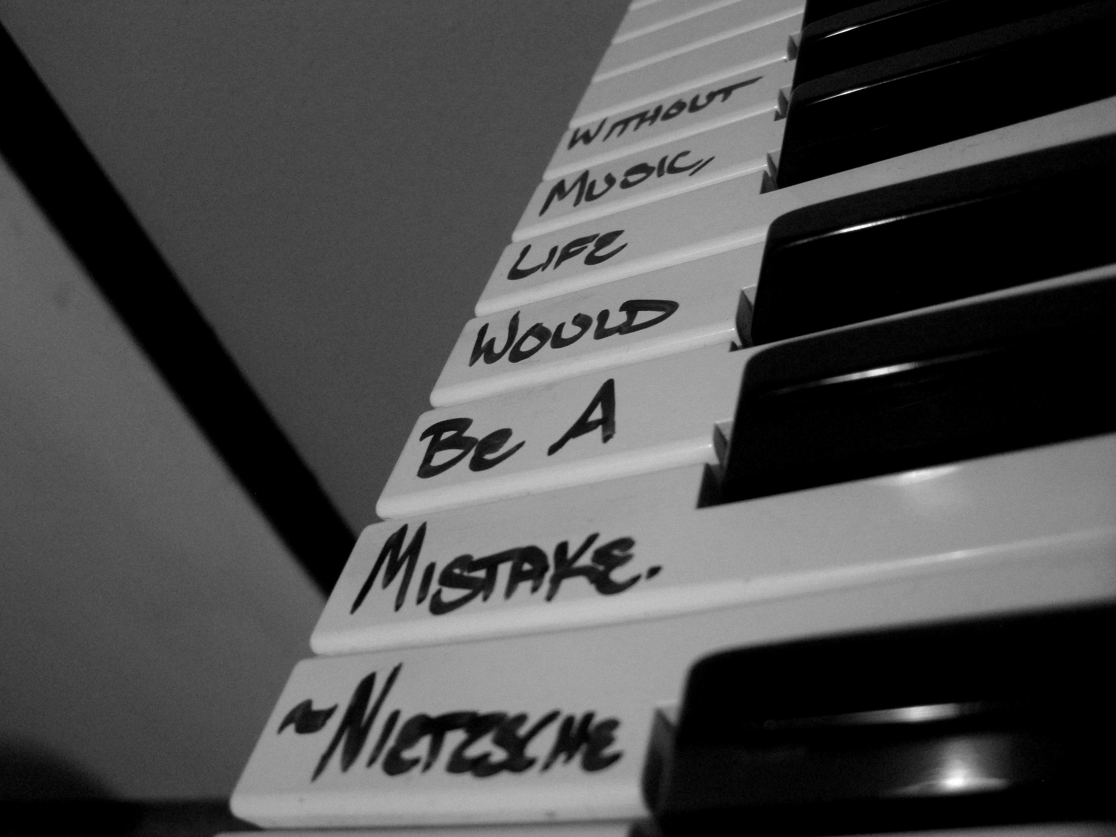 """""""Without music, life would be a mistake."""" ~Nietzsche ..."""