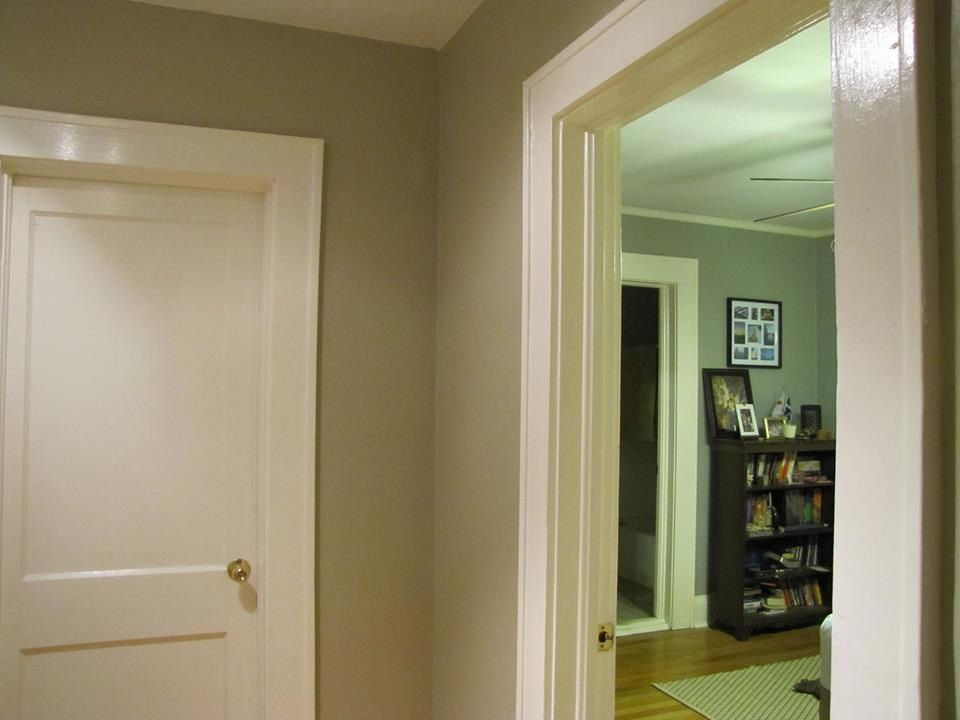 """Valspar """"colony Sand"""" Greige In My Hallway. Turned Out"""