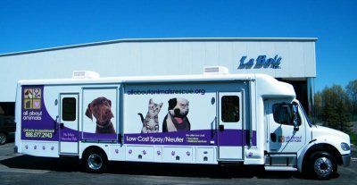 All About Animals low cost spay/neuter mobile van schedule!