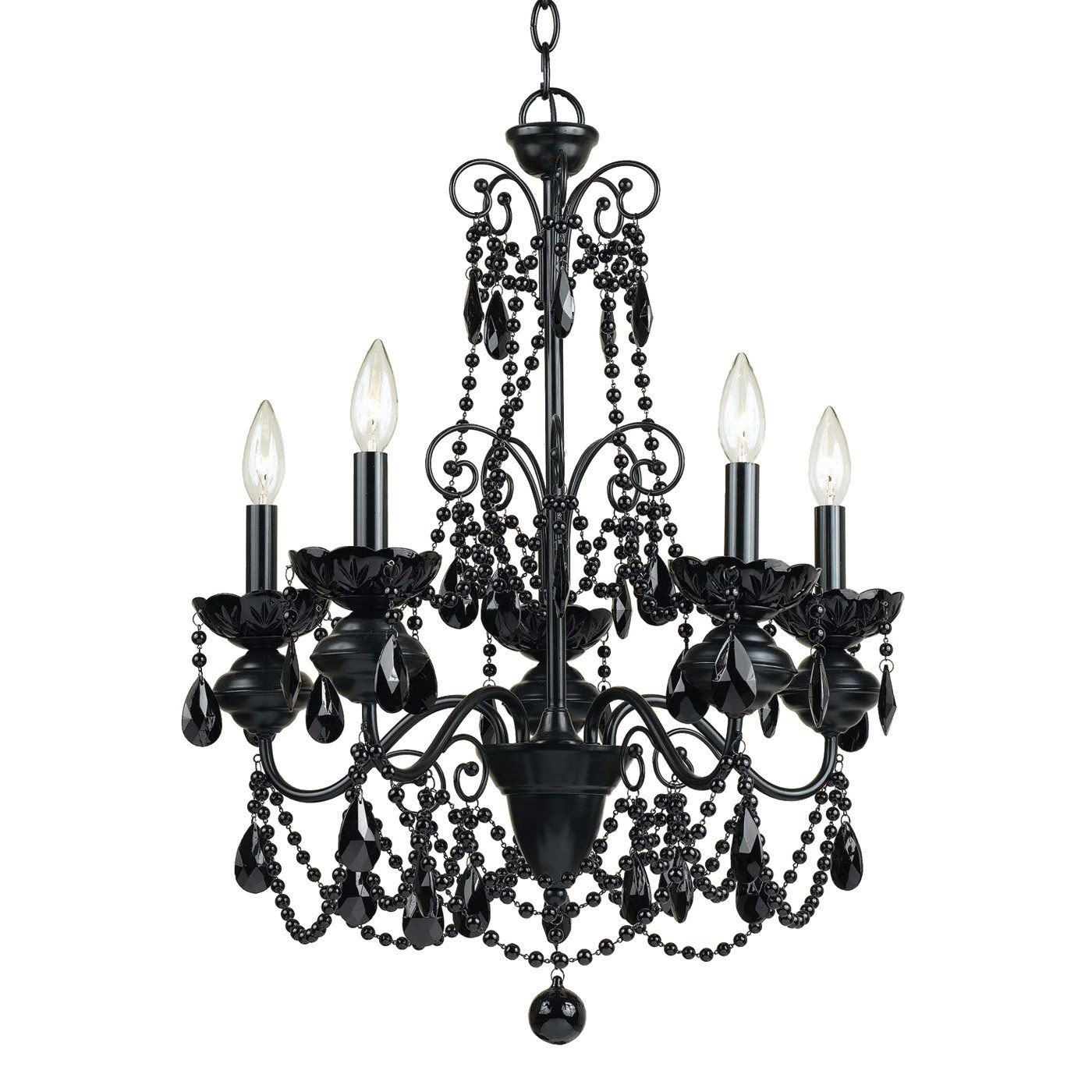 Af Lighting 7506 5h 5 Light Mischief Chandelier Black At Atg