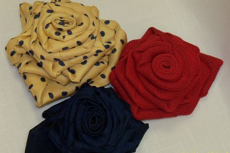 necktie projects | Guy's Tie Becomes Girl's Rose