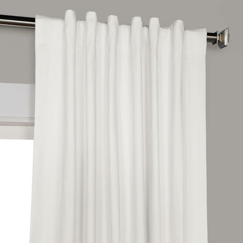 Bryce 100 Cotton Solid Blackout Thermal Rod Pocket Single Curtain Panel In 2021 Curtains Blackout Curtains White Curtains Living Room