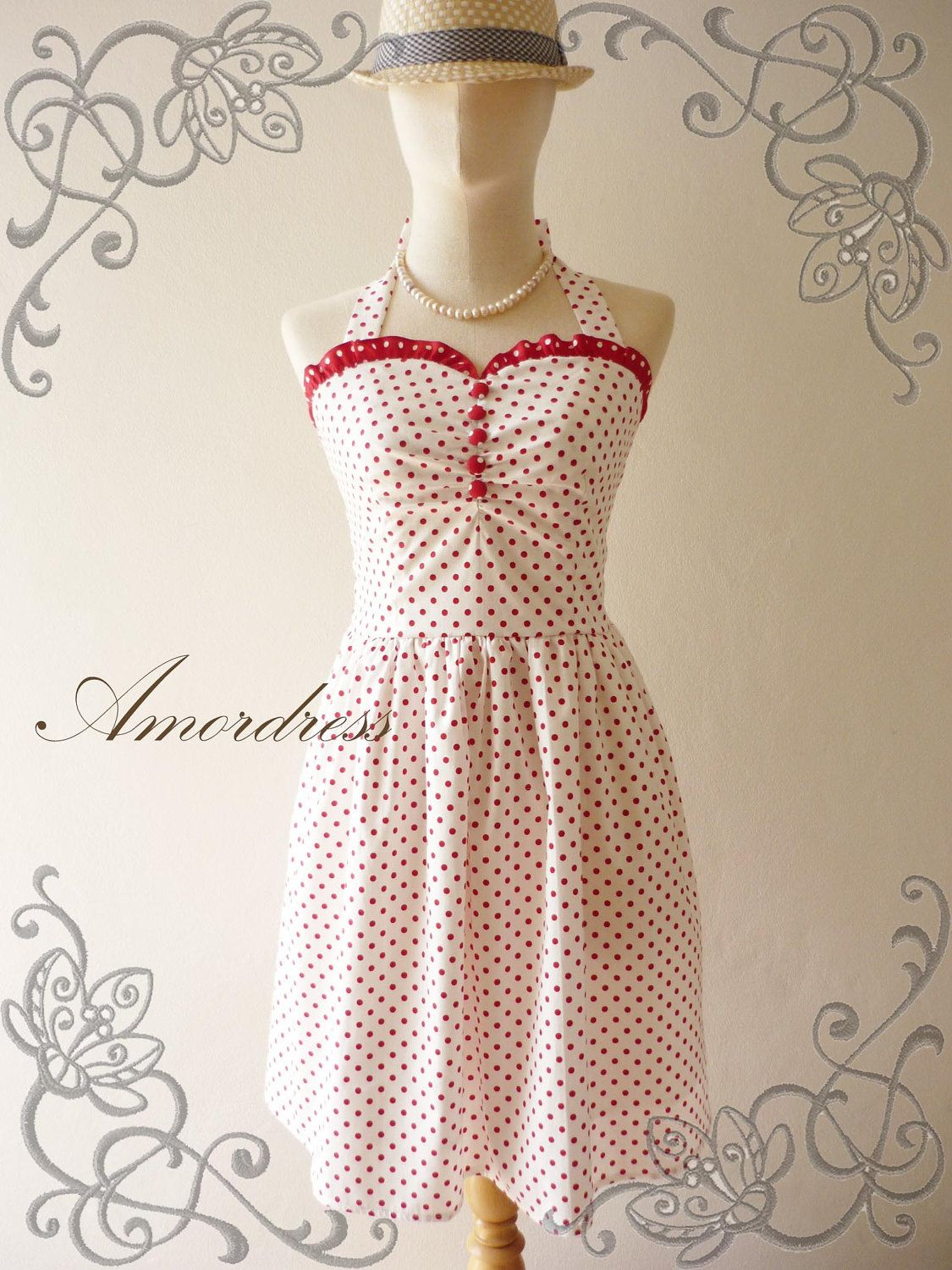 NEW For Bright SUMMER Amor Vintage Inspired Once Upon by Amordress. $52.00, via Etsy.