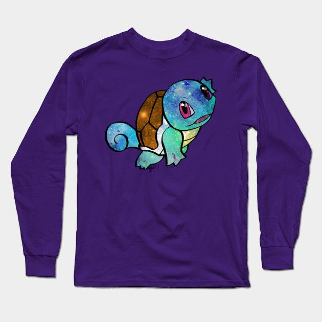 Galaxy Squirtle Long Sleeve T-Shirt