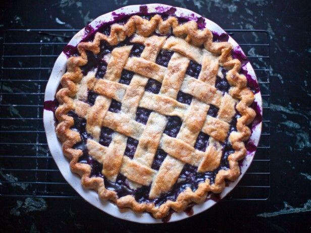 Blauwe bessen taart Blueberry Pie