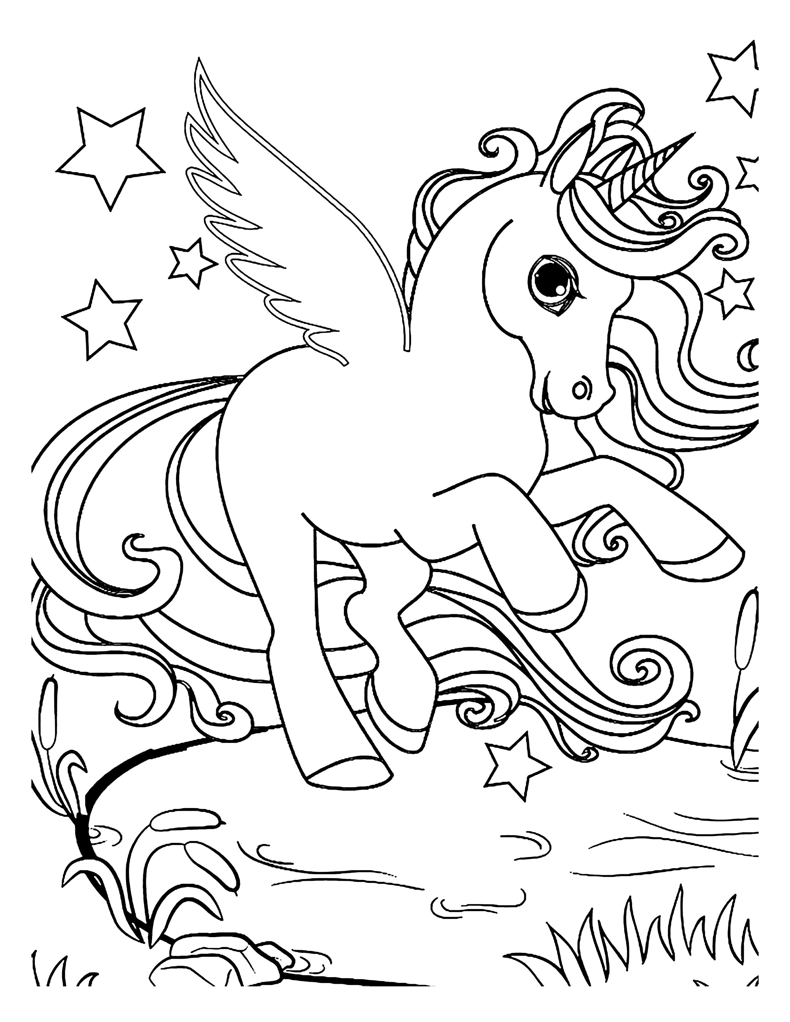 Pin On 100 Unicorn Coloring Pages For Kids