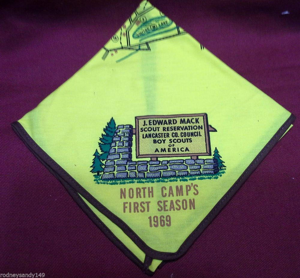 1969 J. Mack Scout Res. Yellow Neckerchief Boy Scout Reservation ...