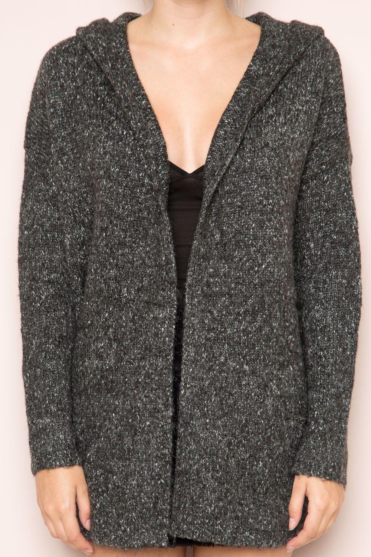 Brandy ♥ Melville |  Ayara Hoodie Cardigan - Sweaters - Clothing
