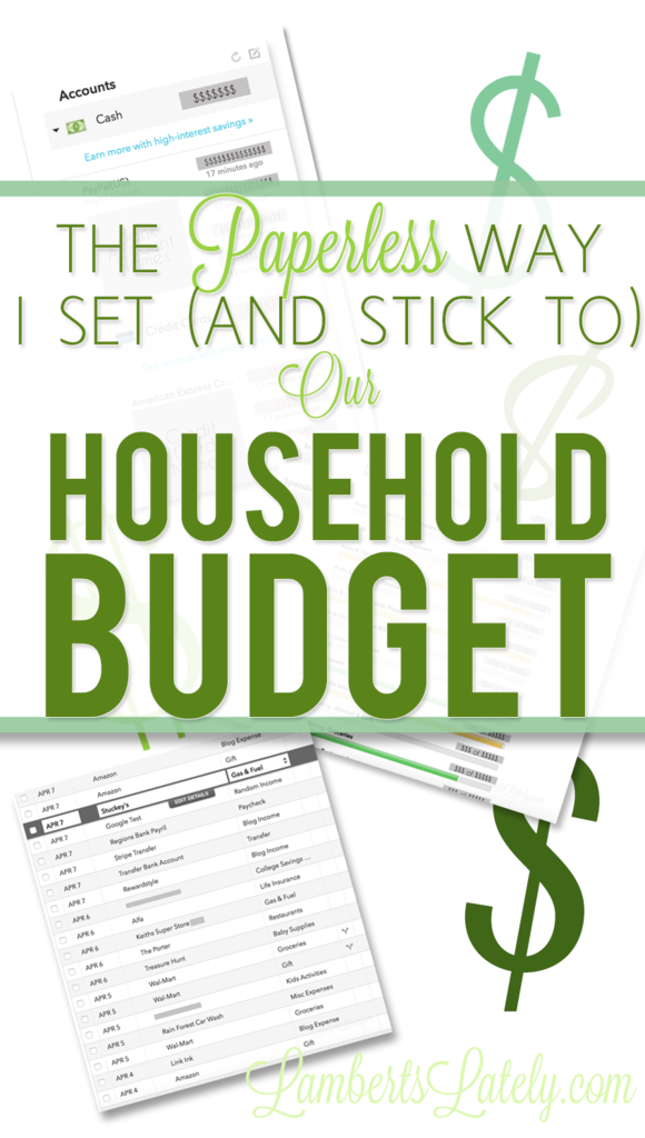 The Paperless Way I Set And Stick To Our Household Budget Best