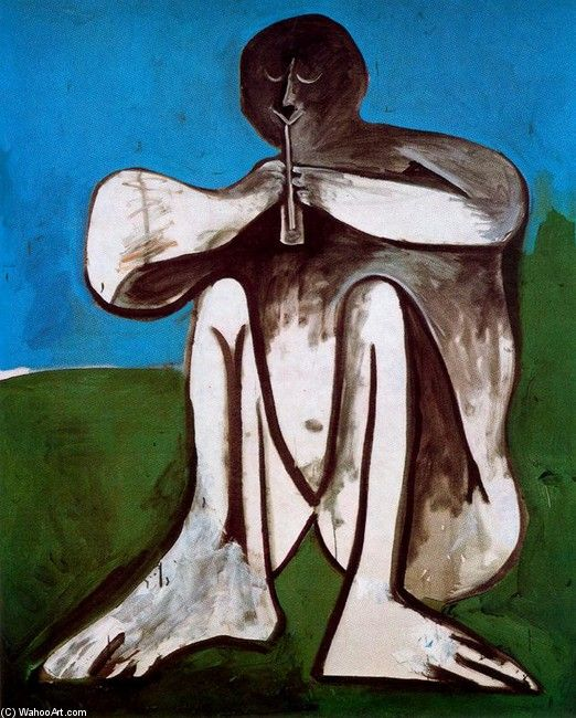 Pablo Picasso - THe flautist