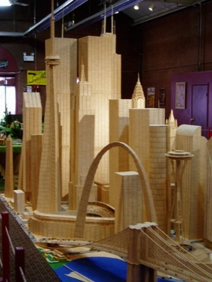 Toothpick Art | Anything made out of wood | Pinterest