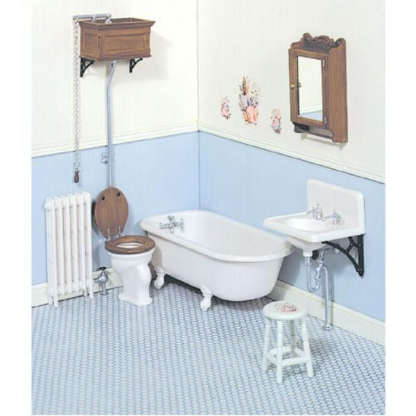 Chrysnbon Dollhouse Miniature Bathroom Kit | Miniatures | Dollhouse ...