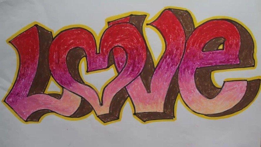Contoh Foto Gambar Wallpaper Grafiti Tulisan I Love You Cinta Monyet Gambar Grafit Gambar Grafiti