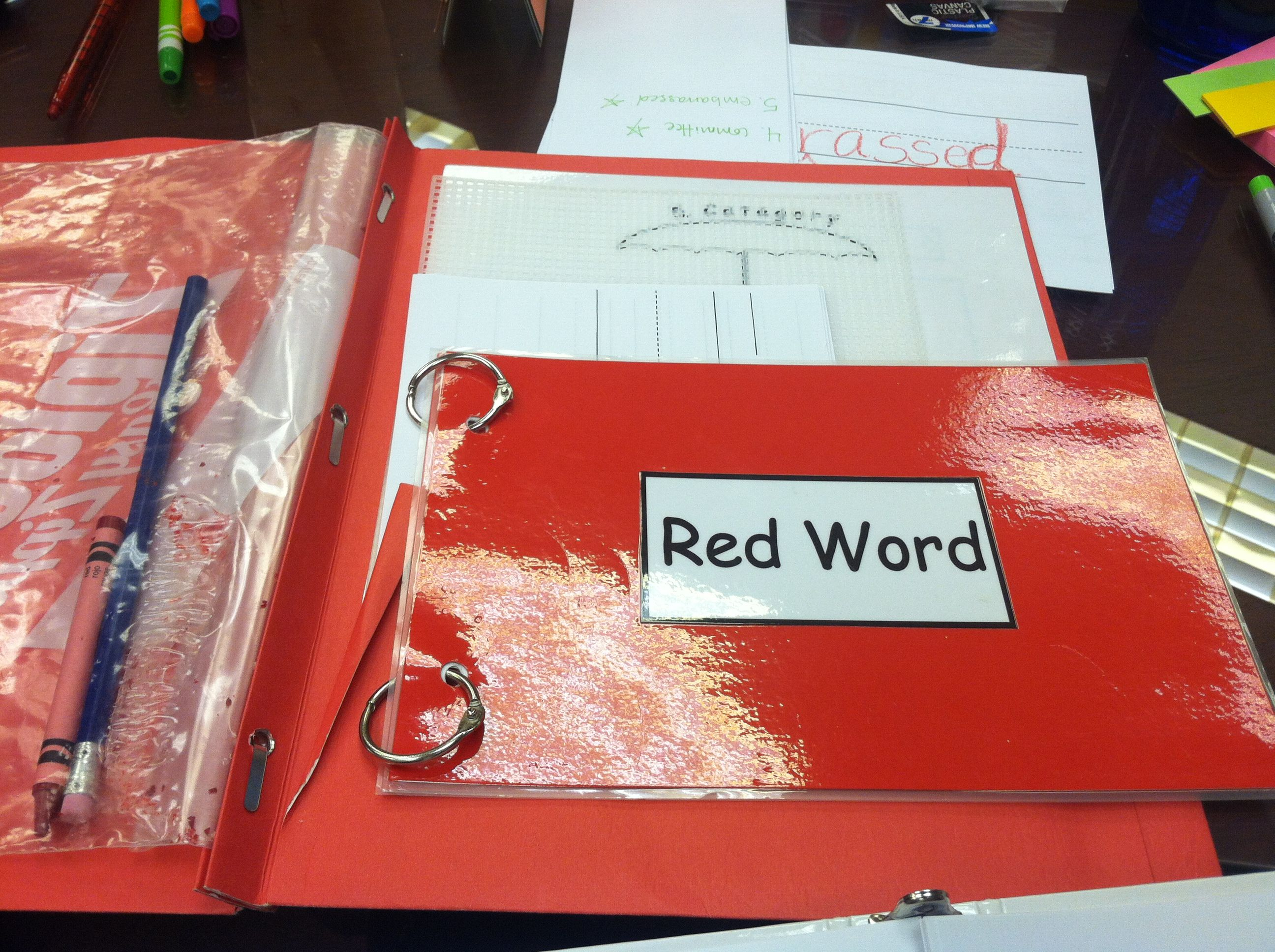 Red word folder   Orton   Pinterest   Red, Writing folders and Words