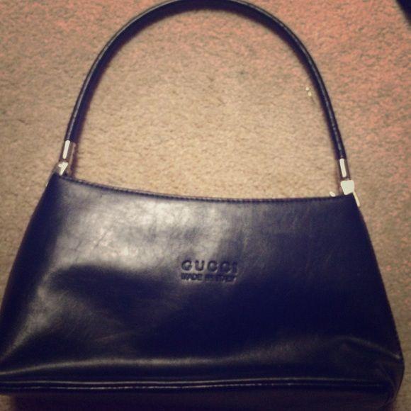 Black Gucci Bag Real black GUCCI bag. never used! Gucci Bags Mini Bags