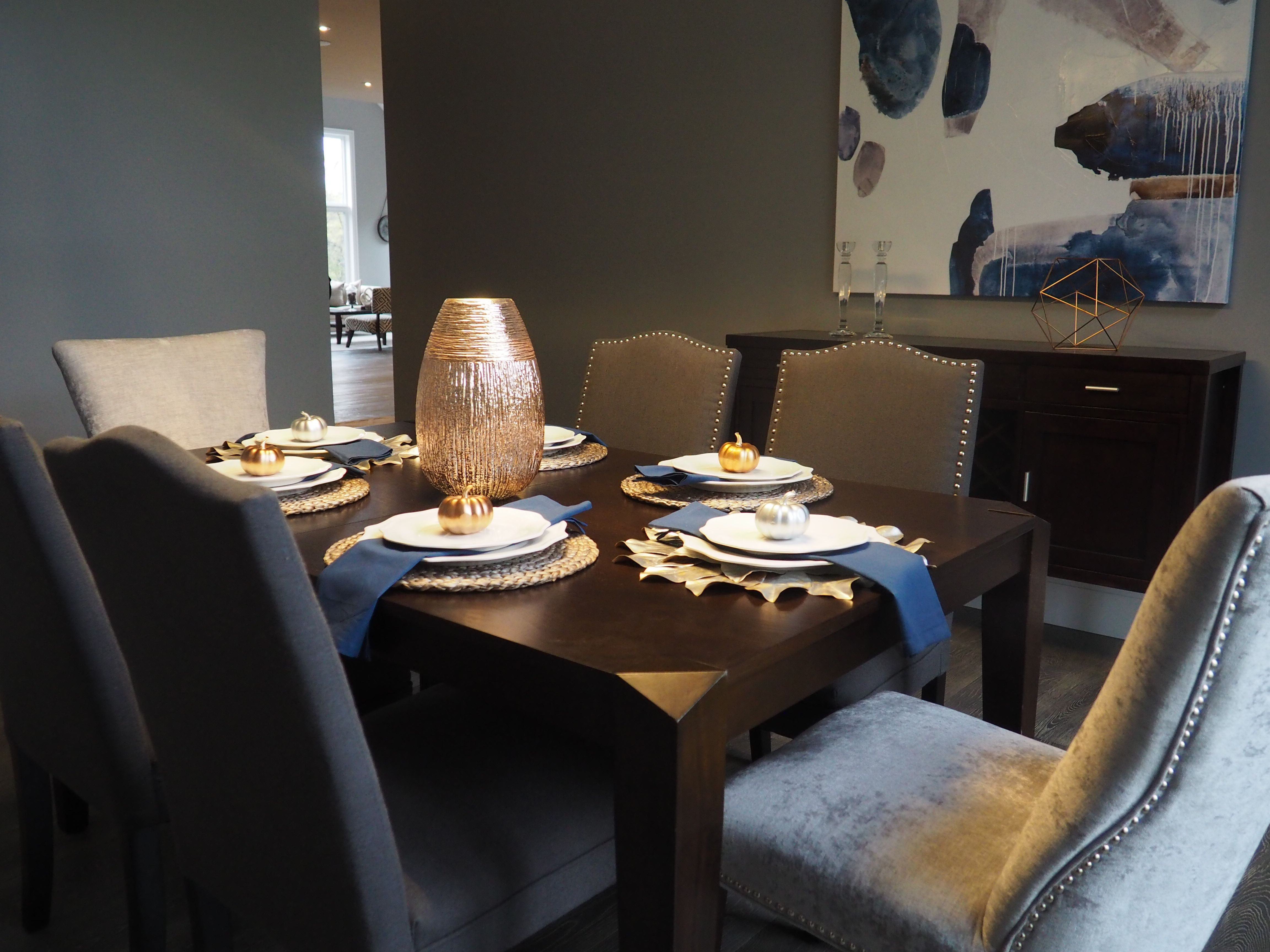 Dining Room Interior Decor Home Staging Table Setting