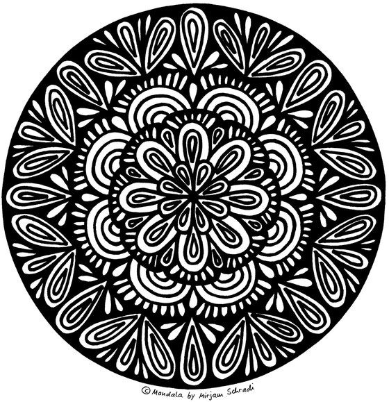 Mandala Flower free printable Kids + Adults Mandalas zum Ausdrucken ...