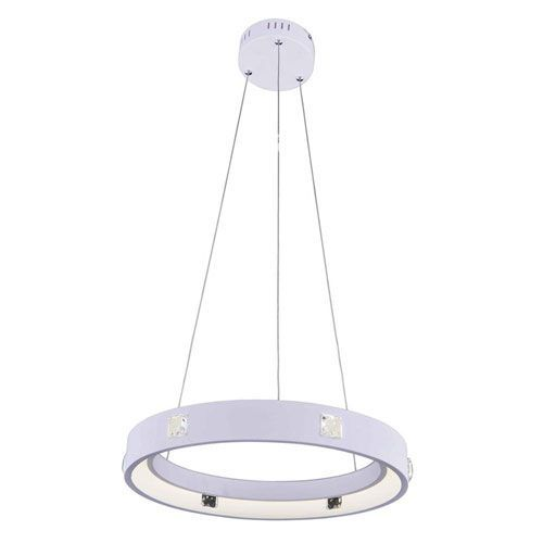 Infinity White 18-Inch LED Pendant with Royal Cut Crystal