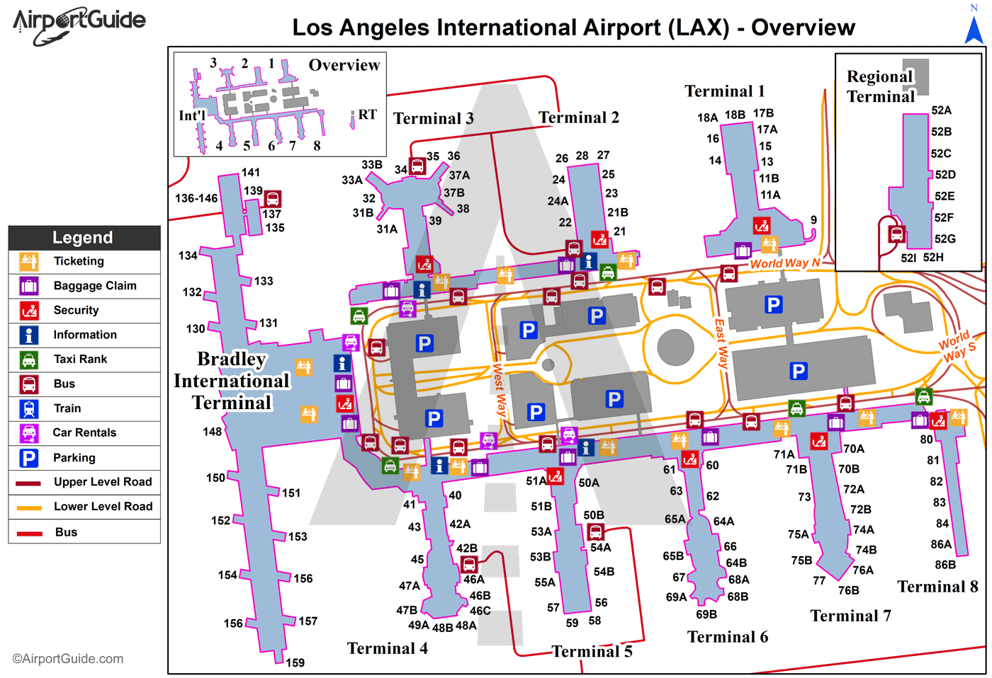 Lax Terminal Map In 2020 Airport Map Airports Terminal Airport