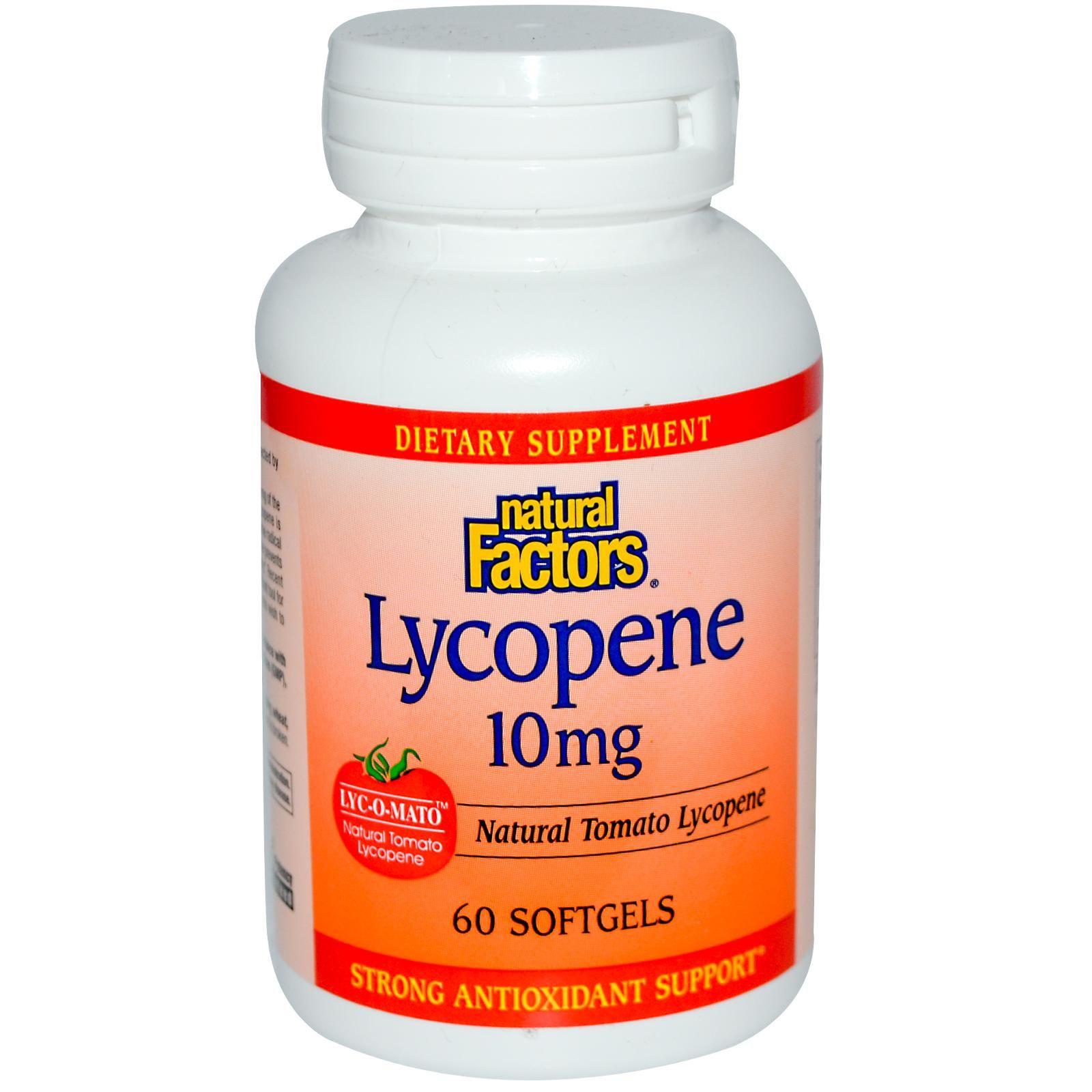 23+ Natural Factors, Lycopene, 10 mg, 60 Softgels