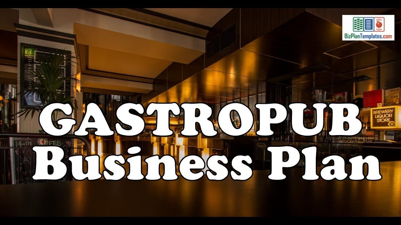 Gastropub Business Plan Template With Example And Sample Business Planning Furniture Business Plans Business Plan Template