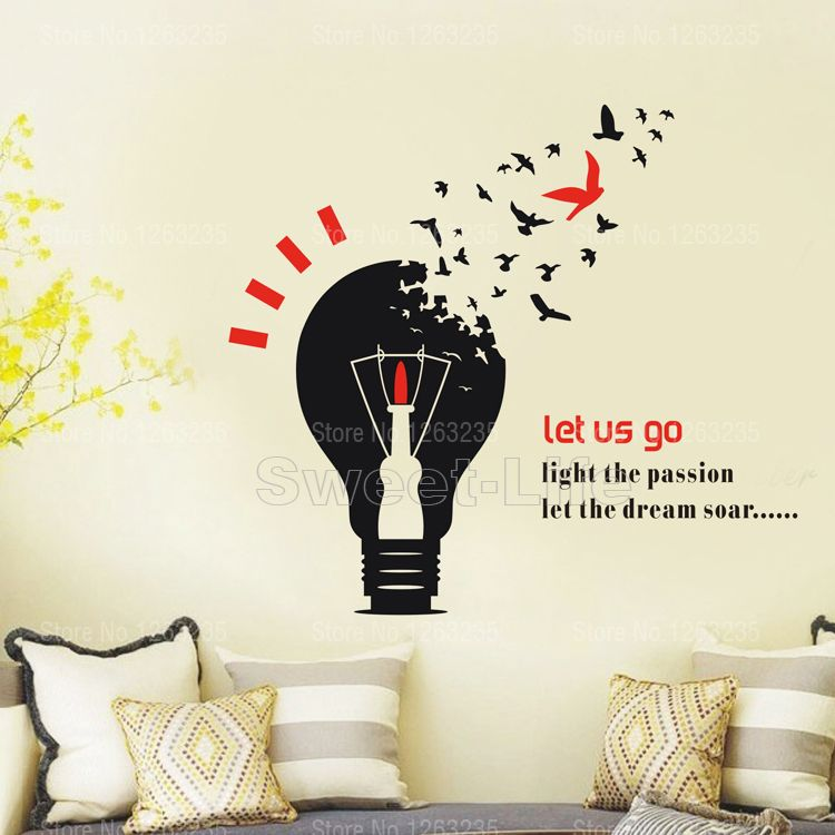 Find More Wall Stickers Information About Free Shipping Corporate Let The  Dream Soar Home Decor Decas