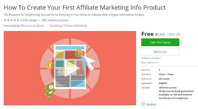 Coupon udemy how to create your first affiliate marketing info coupon udemy how to create your first affiliate marketing info product 100 off malvernweather Image collections