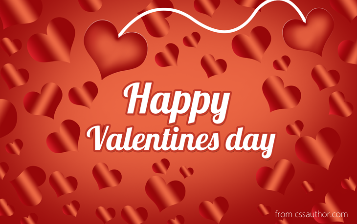 Valentines Day Greetings Card PSD cssauthor – Free Valentines Day E Card