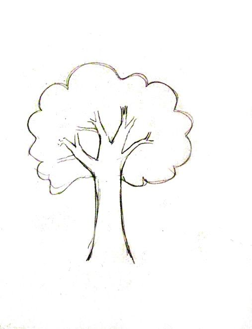 How To Draw A Tree Happy Family Art Tree Drawing Tree Drawing Simple Trees Drawing Tutorial