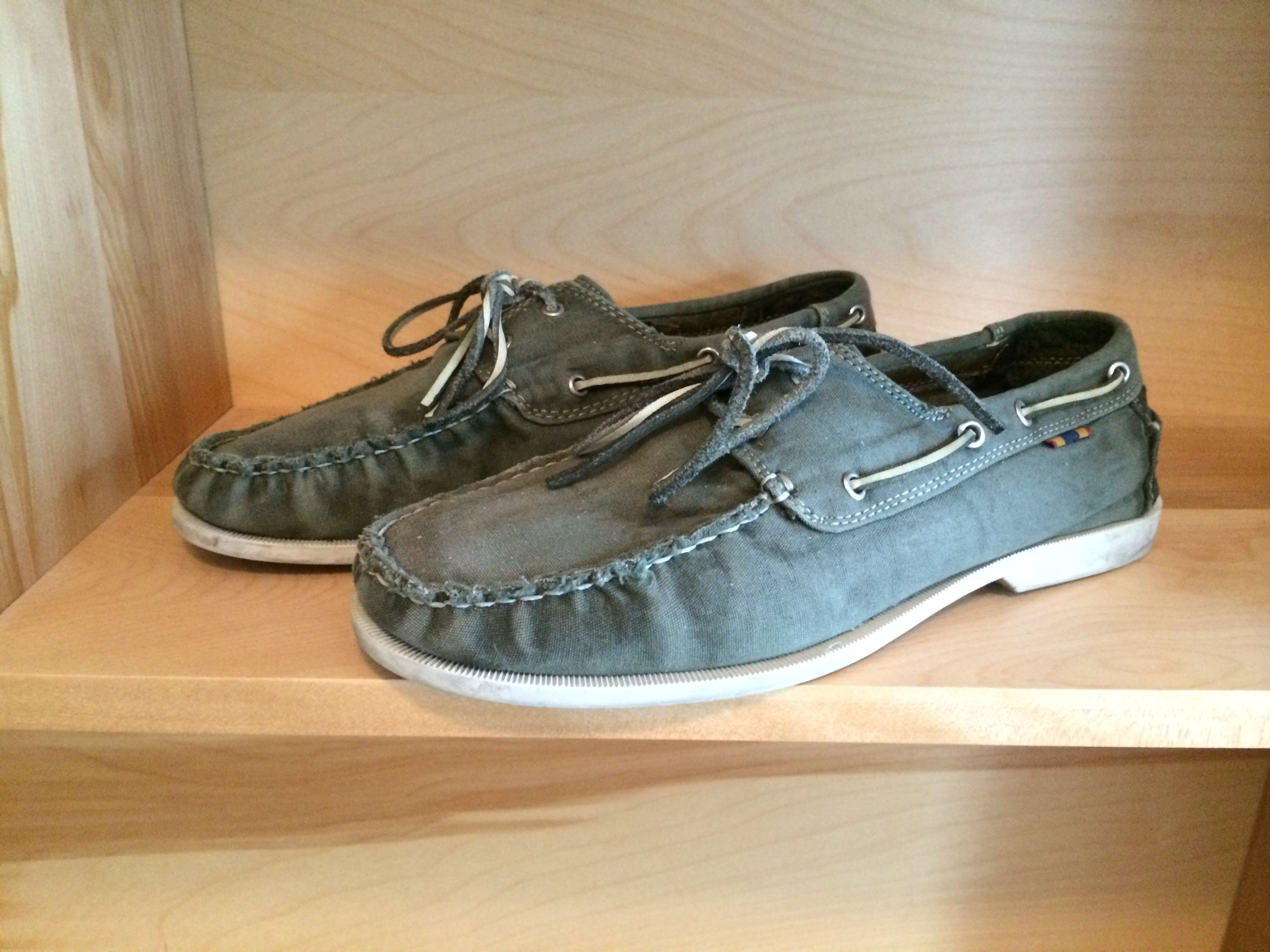 Fossil Green Canvas Boat Shoes From Dsw