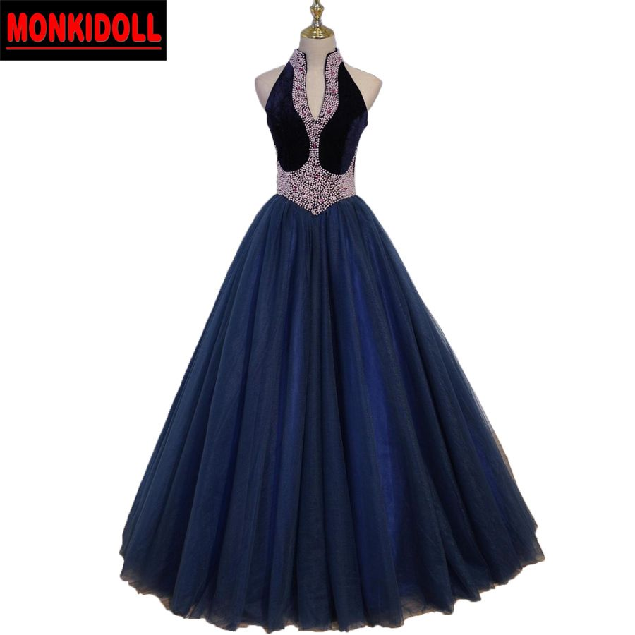 Click to buy ucuc vintage beaded pearls ball gown prom dresses