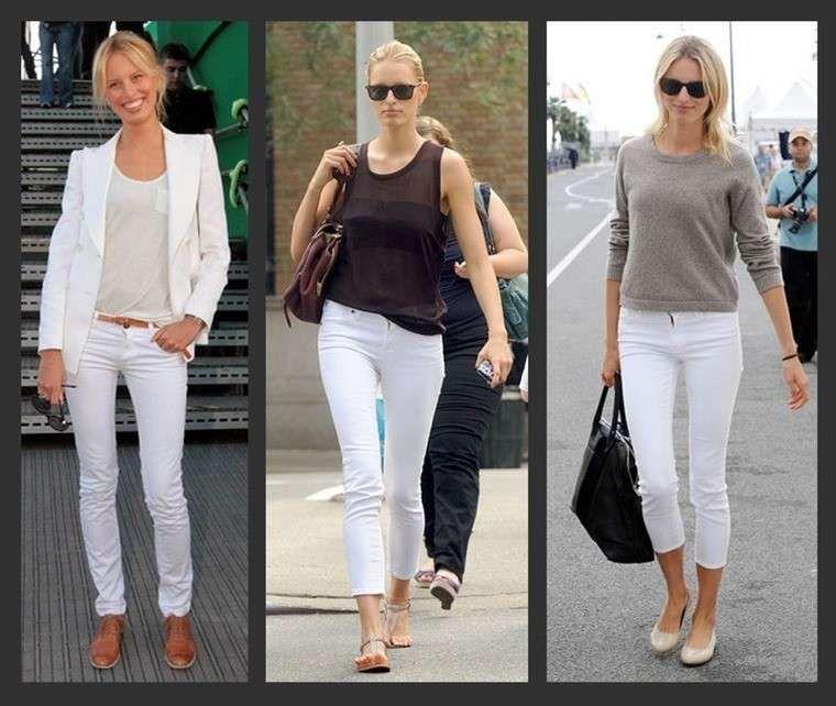 Pantalón Blanco Fotos De Cómo Combinarlo Varias Combinaciones De Pantalón Blanco Ropa Moda Pantalones