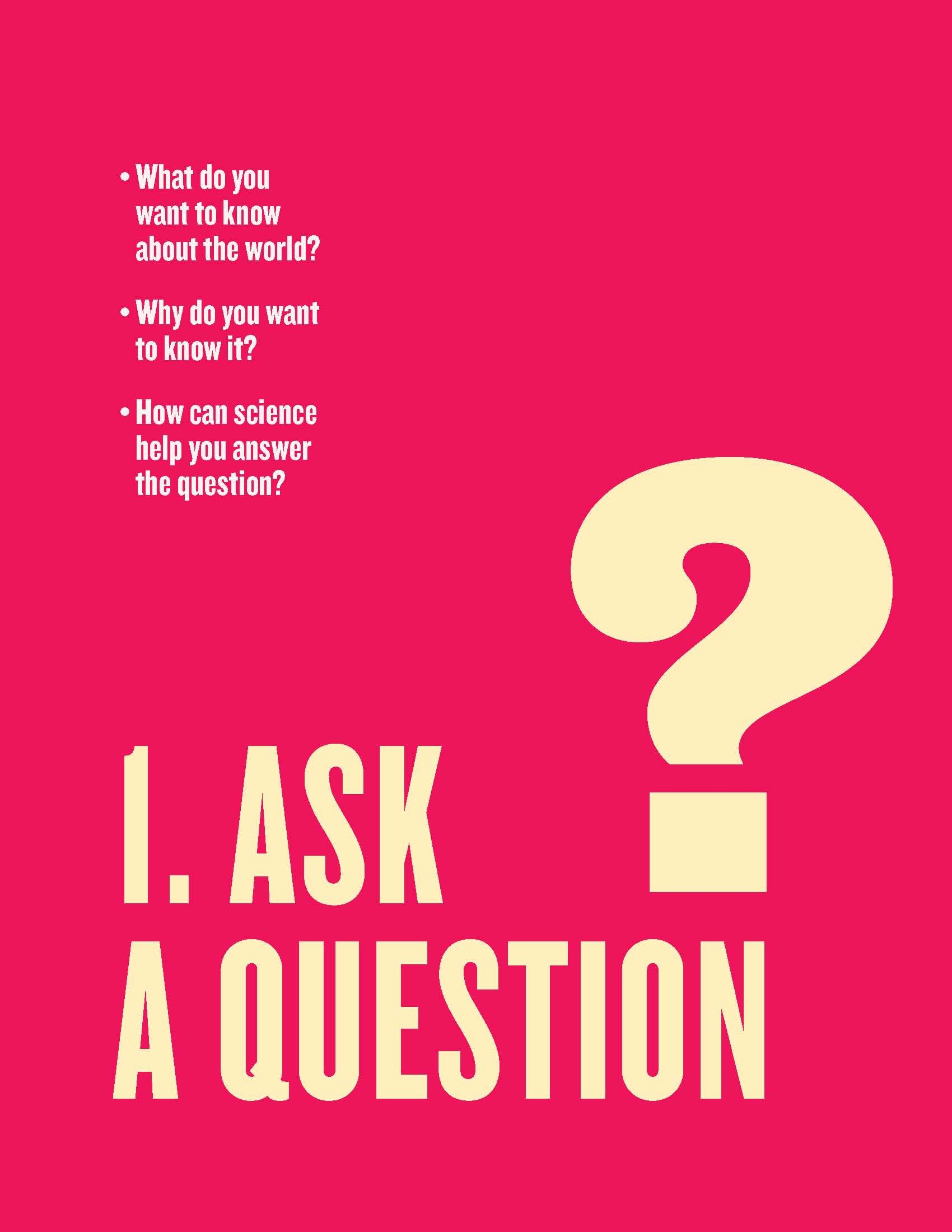 Free Scientific Method Posters For The Classroom Step 1 Ask A