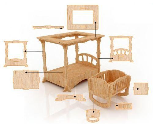 Muebles Para Casa De Munecas Mdf Kit De Muebles Miniatura
